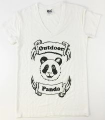 Women's Outdoor Panda short sleeve bamboo Panda V