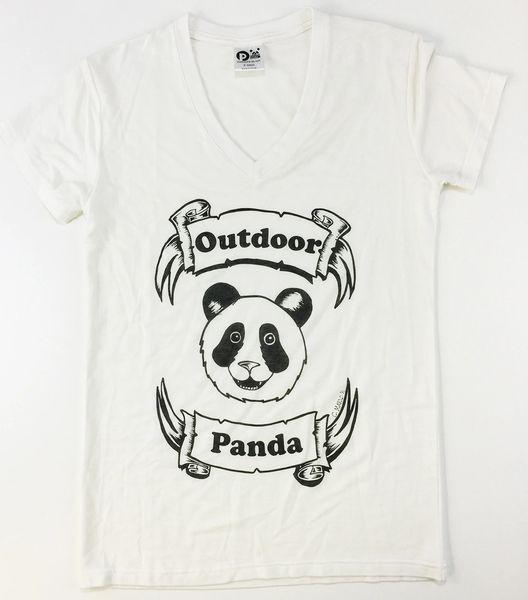 Women's Outdoor Panda short sleeve bamboo Panda V