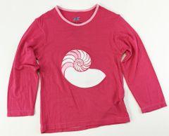 girls long sleeve sea shell t