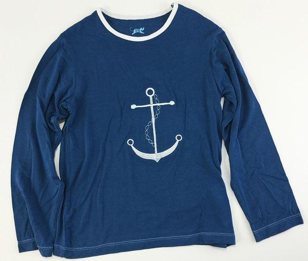 boys long sleeve anchor t