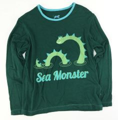 boys long sleeve sea monster t