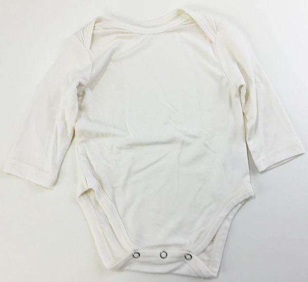 baby onesie long sleeve natural