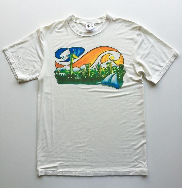 "Men's Outdoor Panda full color ""Seattle"" T"