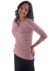 women's bamboo 3/4 sleeve top by Yala