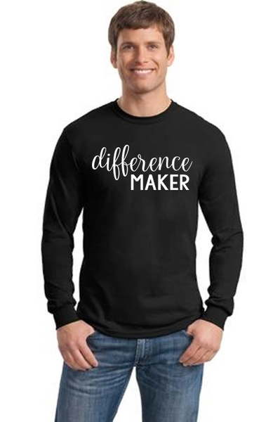 Men's/Unisex Crewneck Long Sleeve Tee- Difference Maker