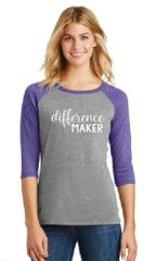 Ladies Baseball Tee- Difference Maker