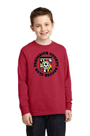 FCSC- Port & Company Youth Long Sleeve Core Cotton Tee PC54YLS