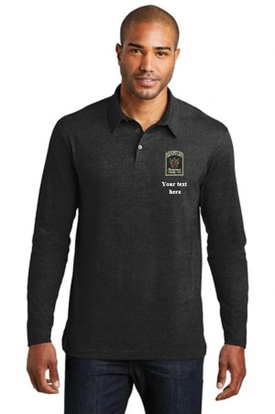 DOCR- Port Authority Men's/Unisex Long Sleeve Meridian Cotton Blend Polo. K577LS