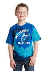 Nottingham Marlins- Youth Tie-Dye Tee. PC147Y.