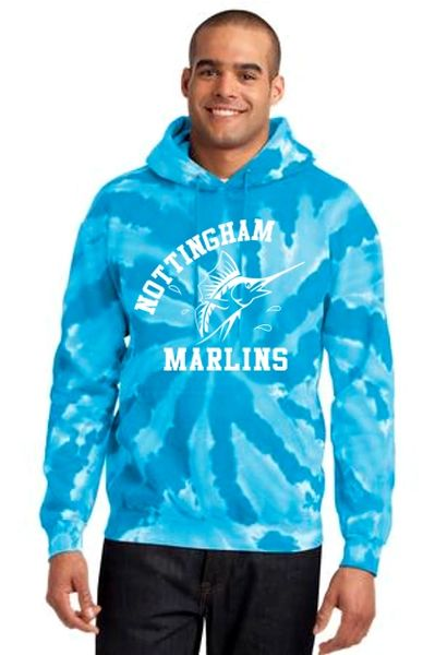 Nottingham Marlins- Adult Tie-Dye Hoodie. PC146.