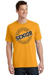 SCHS Class of 2019- Gold Adult Cut Core Blend Short Sleeve Tee PC55