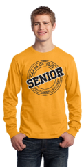SCHS Class of 2019- Gold Adult Cut Core Blend Long Sleeve Tee PC55LS