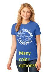 Four Seasons Ladies Crewneck T Shirt MANY COLOR CHOICES! (LPC54)