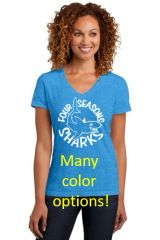 Four Seasons Ladies V Neck T Shirt MANY COLOR OPTIONS (DM1190L)