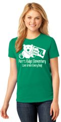 Parr's Ridge Green School - Ladies T Shirt- V-Neck (LPC54V) or Crewneck (LPC54)