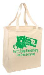 Parr's Ridge Green School - Grocery Tote (B110)
