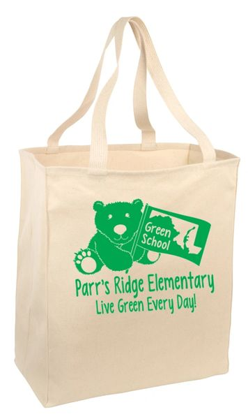 Parr's Ridge Green School - Grocery Tote (B110)