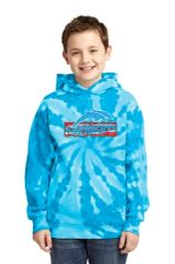 Freedom Dolphins- Youth Tie Dye Hooide