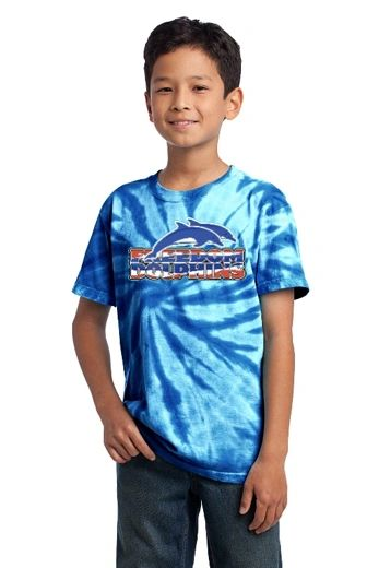 Freedom Dolphins- Youth Tie-Dye Tee