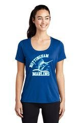 Nottingham Marlins- Ladies UV Performance Scoop Neck Tee LST420