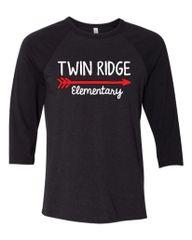 Twin Ridge- Unisex/Men's Baseball Tshirt