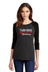 Twin Ridge- Ladies Baseball Tshirt