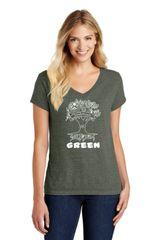 Sandymount- Ladies Premium Short Sleeve V-neck T-shirt