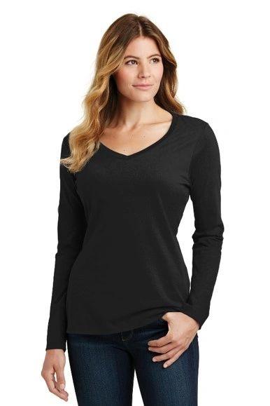 Players on Air- Ladies Vneck Long Sleeve Tshirt
