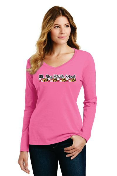MAMS Spiritwear- Ladies Long Sleeve T-shirt - Many Colors!