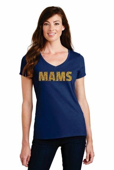 MAMS STAFF- Ladies Glitter Short Sleeve T-shirt