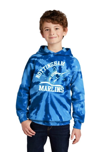 Nottingham Marlins- Youth Tie-Dye Hoodie. PC146Y