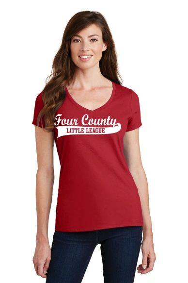 FCLL- Ladies Vneck Short Sleeve Tee