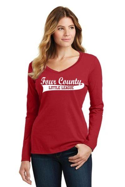 FCLL- Ladies Long Sleeve Vneck Tee