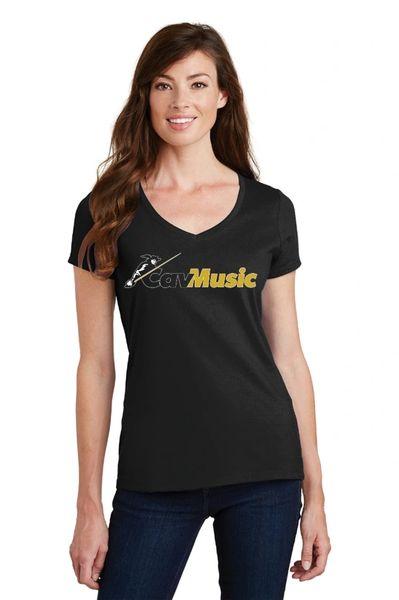 CavMusic- Ladies Vneck T-Shirt
