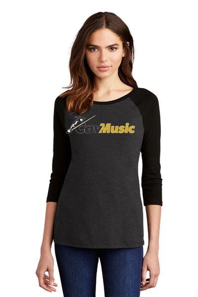 SCHS CavMusic- Ladies Baseball Shirt
