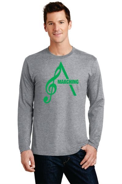 AHS Marching Band- Adult Long Cotton Sleeve T-shirt