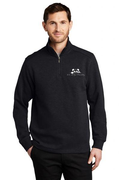 Twin Ridge- Unisex/Men's Slub Fleece Quarter Zip Jacket