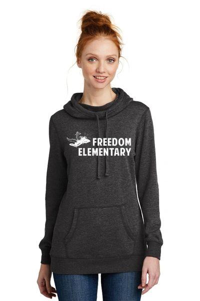 Freedom Elementary- Ladies Lightweight Hoodie