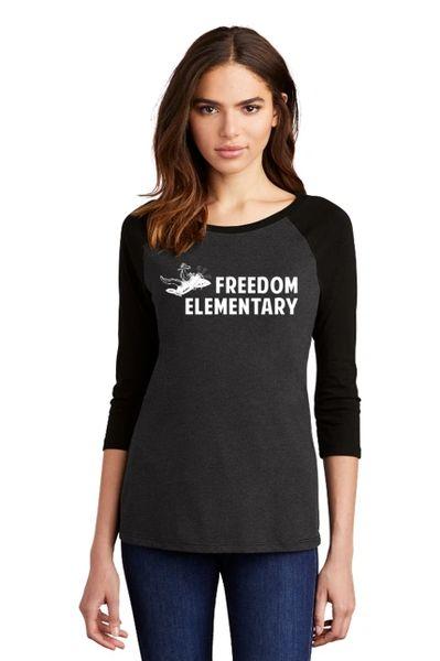 Freedom Elementary- Ladies Baseball Shirt