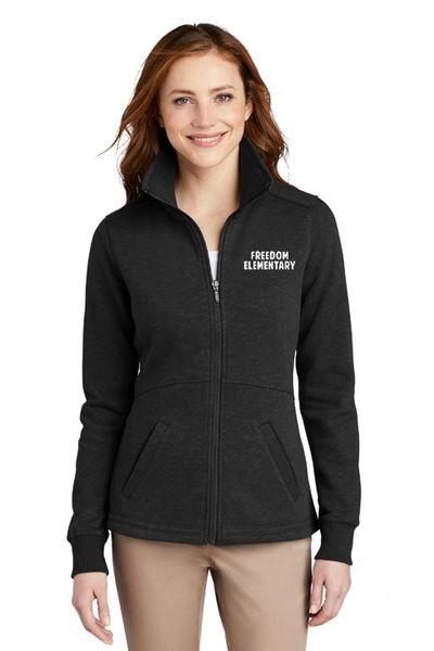 Freedom Elementary- Ladies Slub Fleece Full Zip Jacket