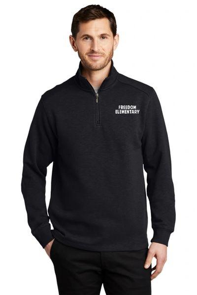 Freedom Elementary- Unisex/Men's Slub Fleece Quarter Zip Jacket