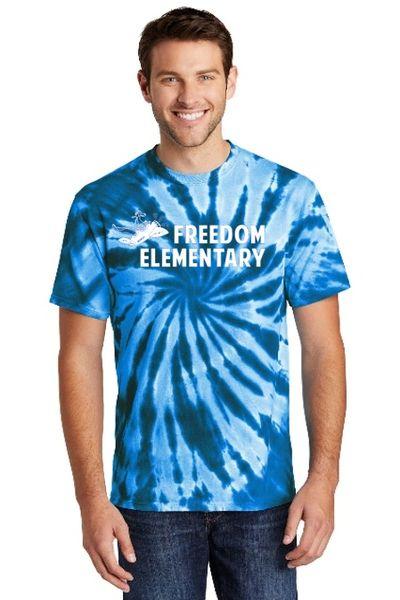 Freedom Elementary- Adult Tie Dye Short Sleeve Tee