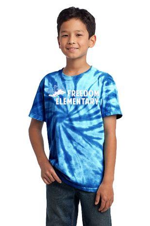 Freedom Elementary- Youth Tie Dye Short Sleeve Tee