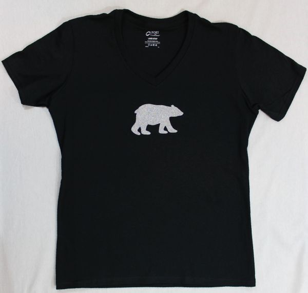 Parr's Ridge- White Glitter Polar Bear Shirt