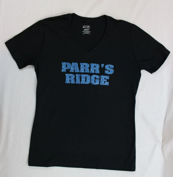 Parr's Ridge- Blue Glitter Shirt