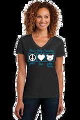 "Parr's Ridge- Ladies ""Peace, Love and Polar Bears"" Short Sleeve"