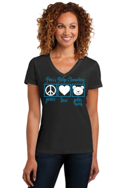 "Parr's Ridge- Ladies ""Peace, Love and Polar Bears"" Short Sleeve"