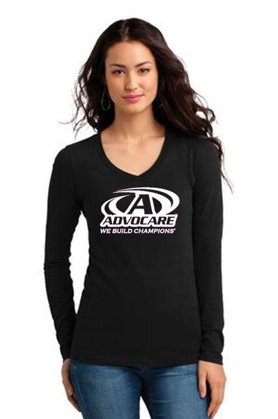 Advocare- Ladies V-neck Long Sleeve T-Shirt