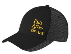 KAH Candyland- 2 Color Mesh Hat with Text Embroidered on Left Front (C923)
