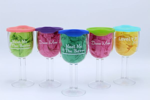 Portable Wine Cups With Lid Rack Monsters 1 Retailer